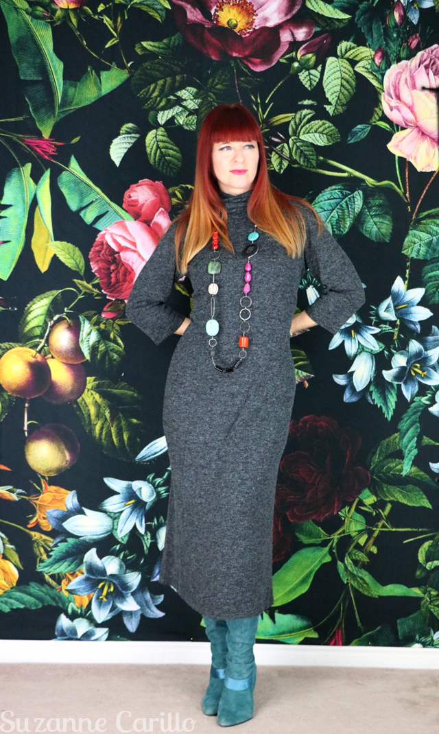 How to style a sweater dress over 40 Suzanne Carillo