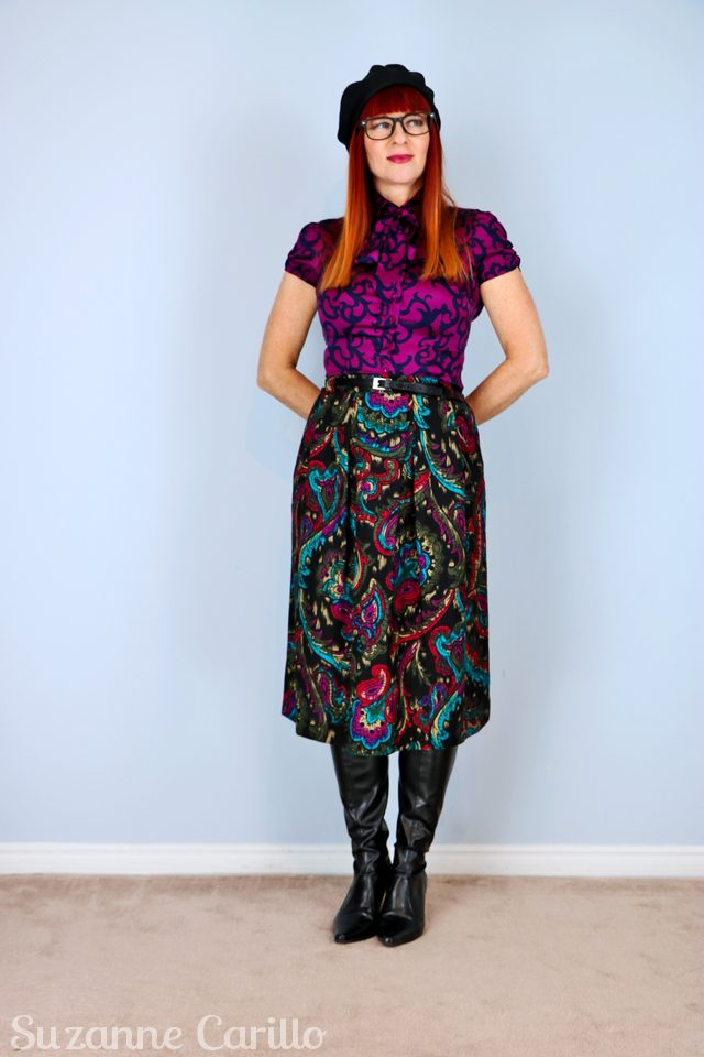 vintage black paisley skirt for sale vintagebysuzanne on etsy