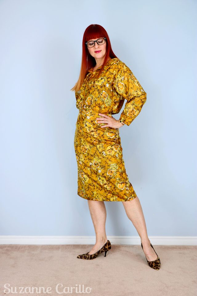 Thrift shopper fighting techniques. Yellow-gold-1950s-dress-handmade-vintage-for-sale-vintagebysuzanne-on-etsy