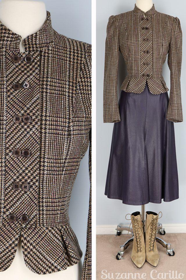 Steampunk Victorian style wool jacket for sale vintagebysuzanne on etsy