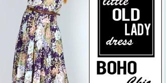 Style A Little Old Lady Dress Boho Chic