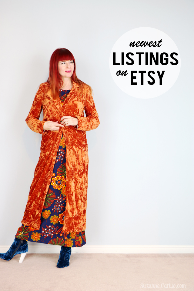 Friday Fresh Vintage Picks Bold Style Over 40 newest vintage clothes for sale on etsy suzanne carillo