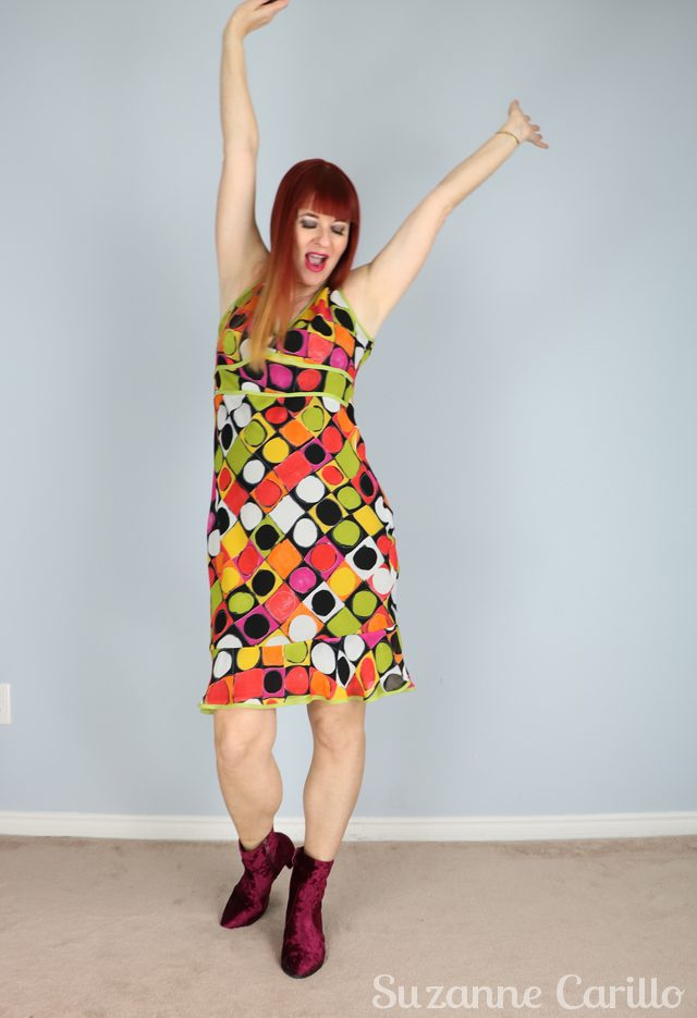 bright polkadot dress for sale buy now vintagebysuzanne on etsy