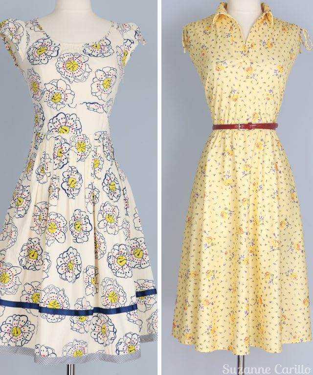 yellow white vintage summer dresses for sale vintagebysuzanne on etsy