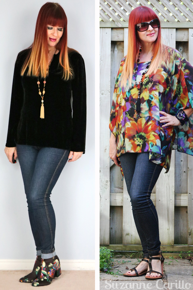 how to dress comfortably without surrendering style wear stretch skinny jeans suzanne carillo style for women over 40