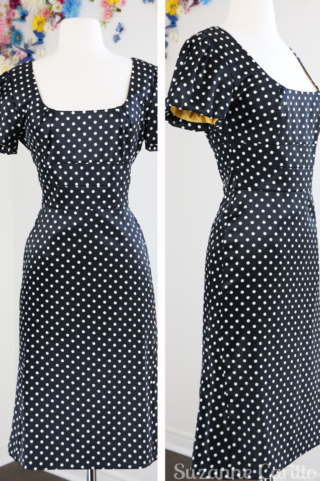 black white polkadot dress for sale