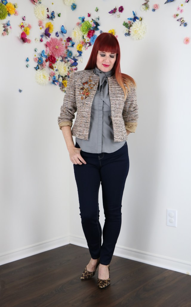 DIY embroidered blazer thrifted blazer upcycle