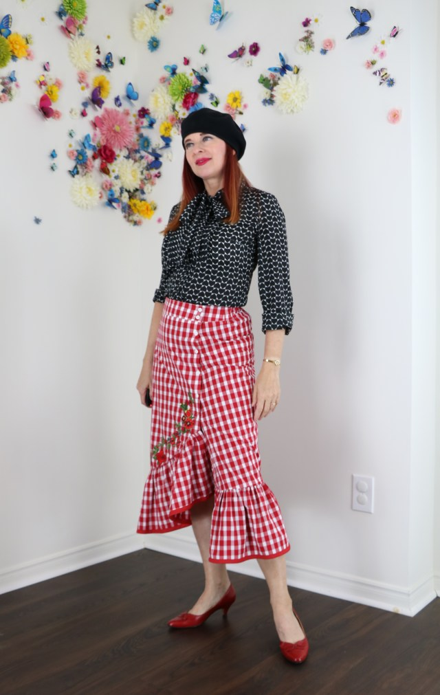 how to style embellished gingham for summer over 40