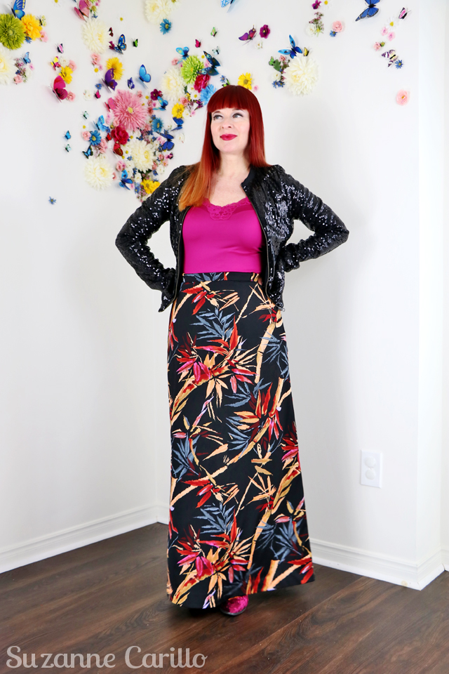 how to style vintage contemporary sequinned bomber jacket over 40 style