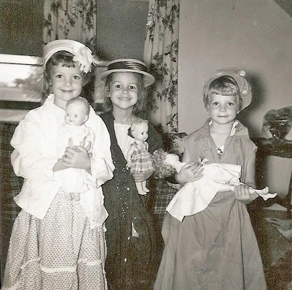 vintage photo kids playing dress up