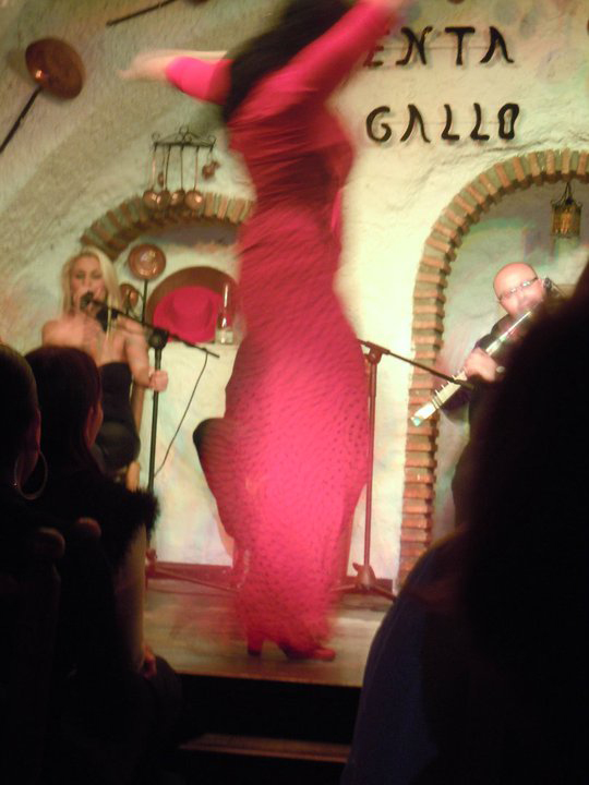 flamenco dancer spinning