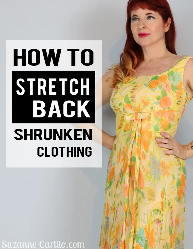 how to stretch back shrunken clothing