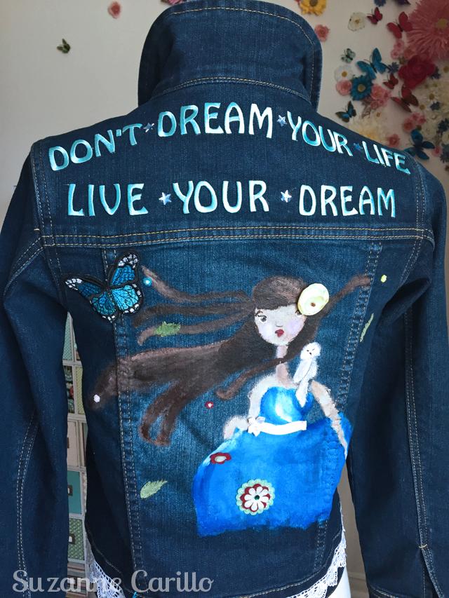 wearable art jean jacket reese back