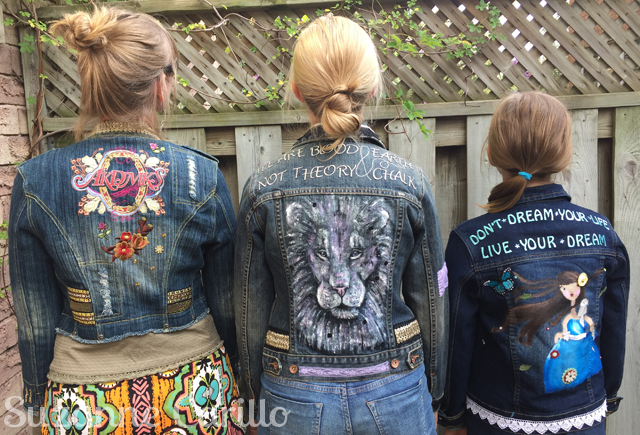 wearable art jean jackets back