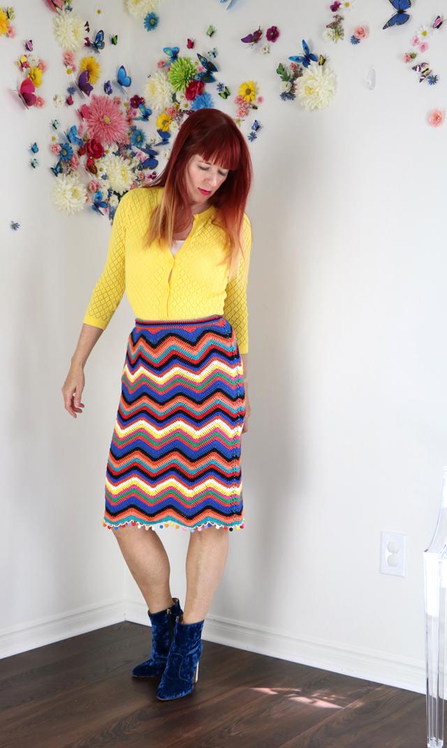 anthropologie crochet skirt