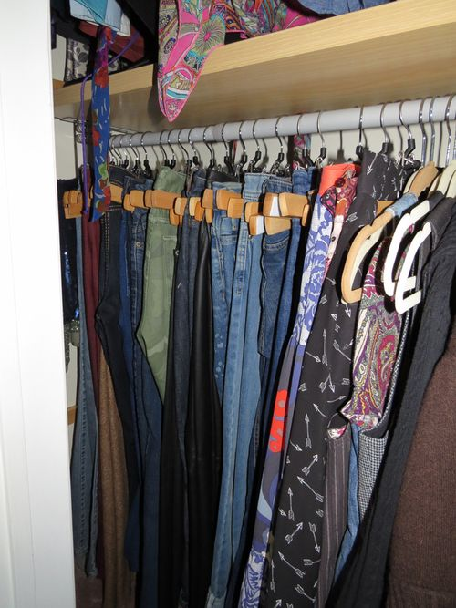 What the average American woman has in her closet. Organized jeans suzanne carillo