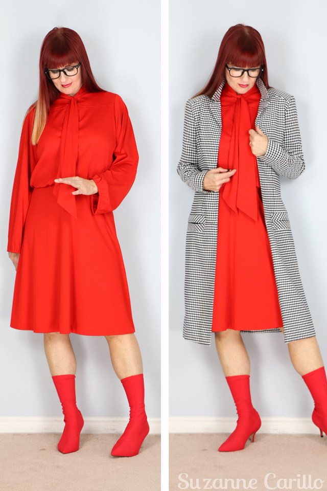 Vintage Fall Coats red vintage dress gingham trench coat