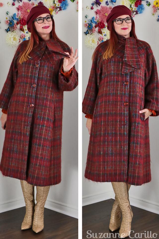vintage 1950s mohair coat suzanne carillo