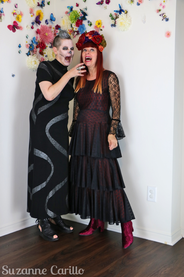 day of the dead costume ideas suzanne and shelley