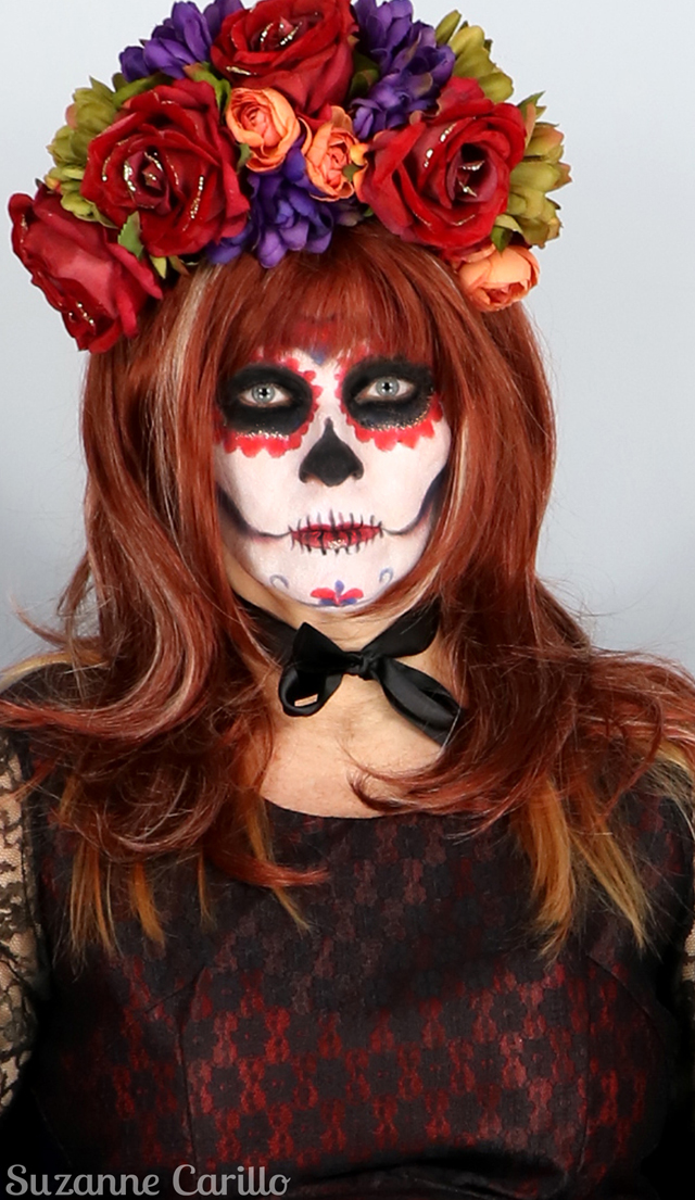 Makeup tolerance diminishes with age. Day of the dead halloween 2017 makeup