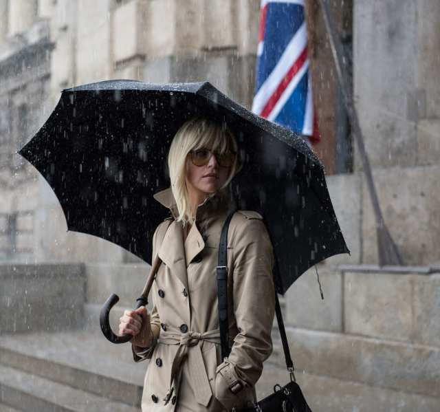 atomic blond trench coat