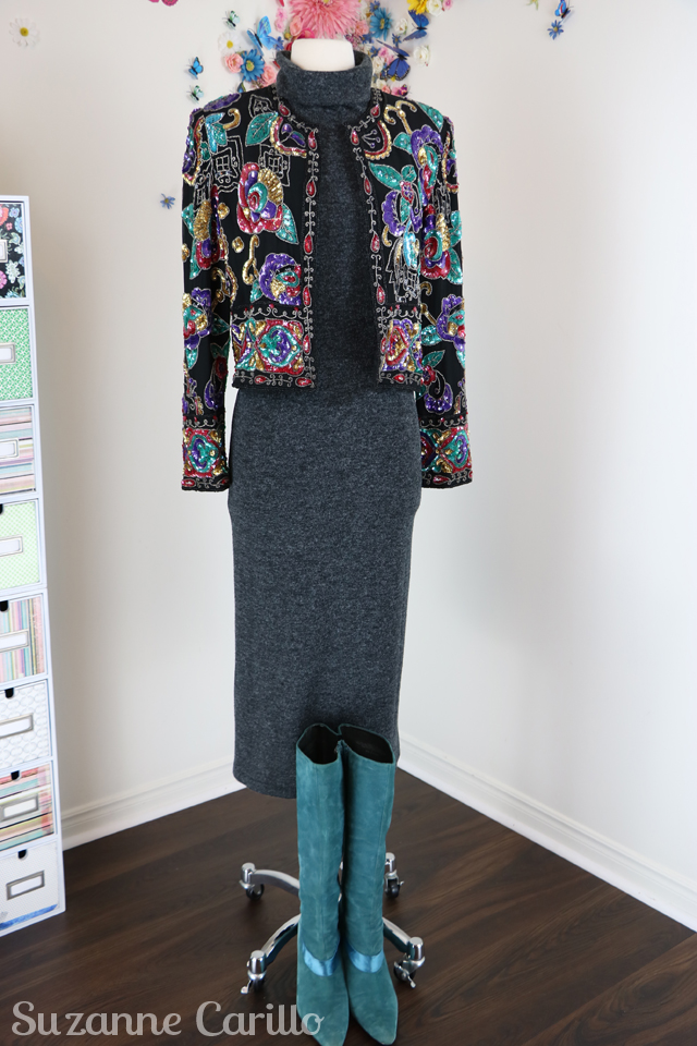ideas to style a sequinned jacket sm