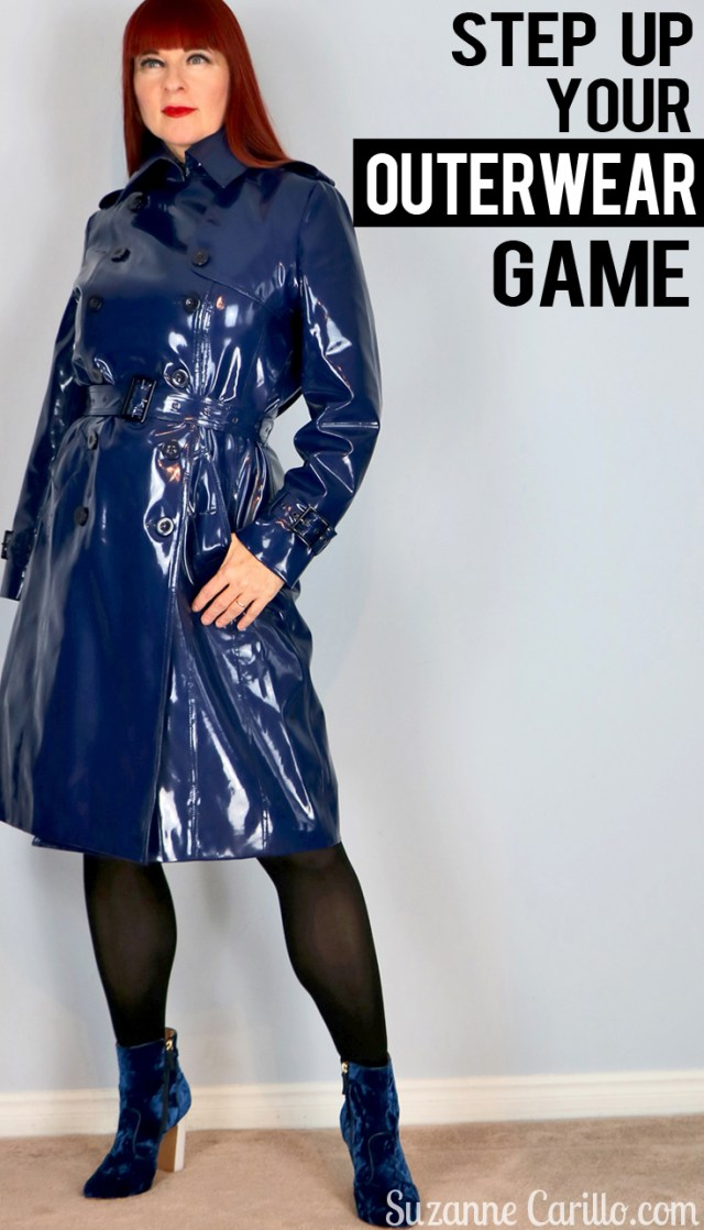 step up your outerwear game how to wear vinyl over 50 suzanne carillo