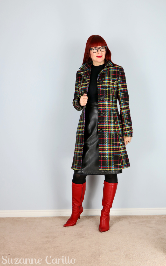 how to style a plaid coat for winter suzanne carillo