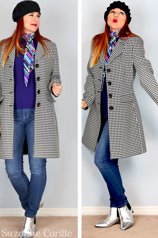 Winning statement coat style. How to wear a gingham coat for spring suzanne carillo