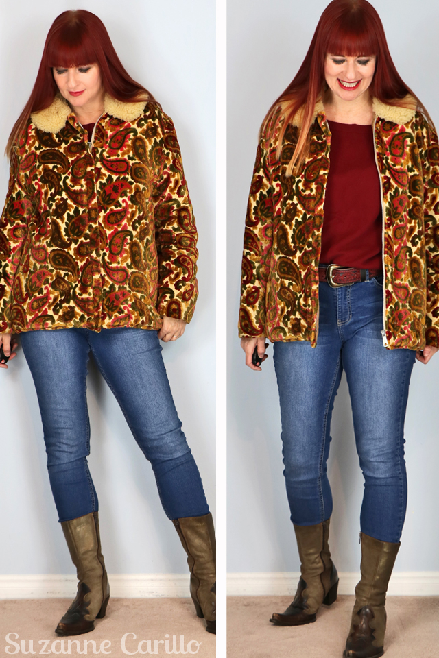 how to wear a tapestry coat over 40 suzanne carillo