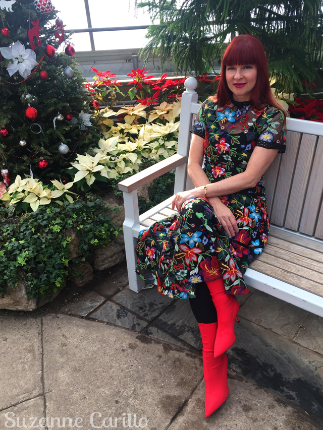 how to wear florals in winter suzanne carillo