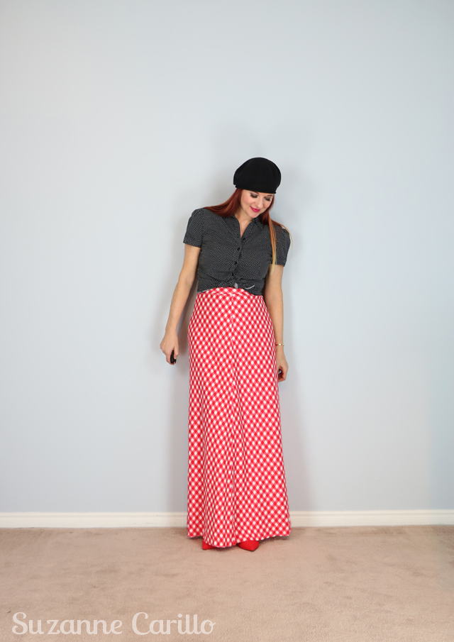 how to style a gingham maxi skirt suzanne carillo