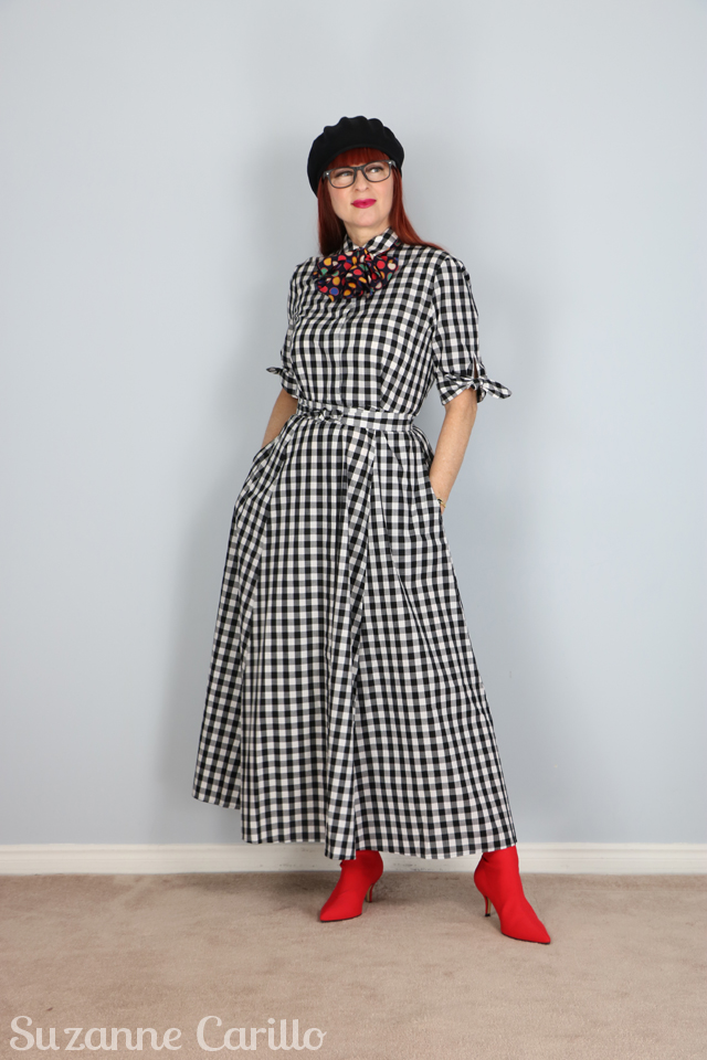 how to style a gingham dress suzanne carillo over 40 style
