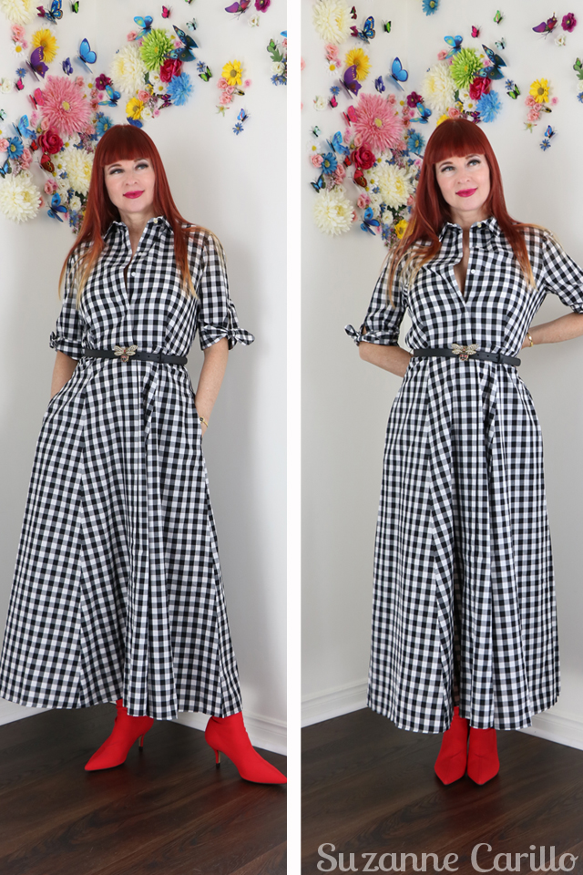 how to wear gingham for spring over 50 style suzanne carillo