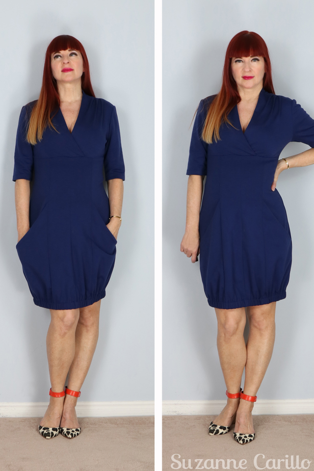 navy jersey bubble designer dress for sale