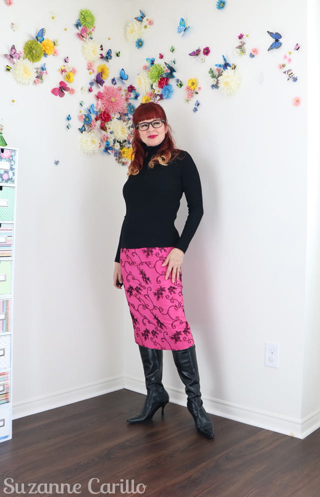 wear vintage pencil skirt three ways