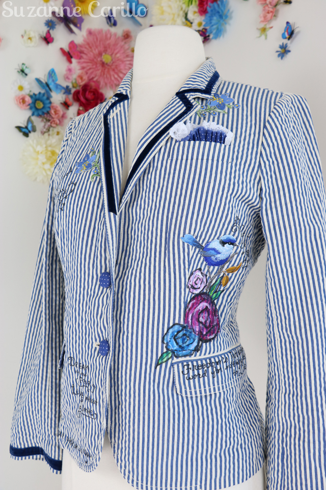 embellished blazer DIY suzanne carillo