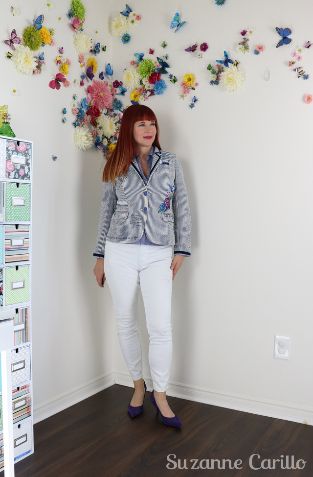 embellished blazer style suzanne carillo