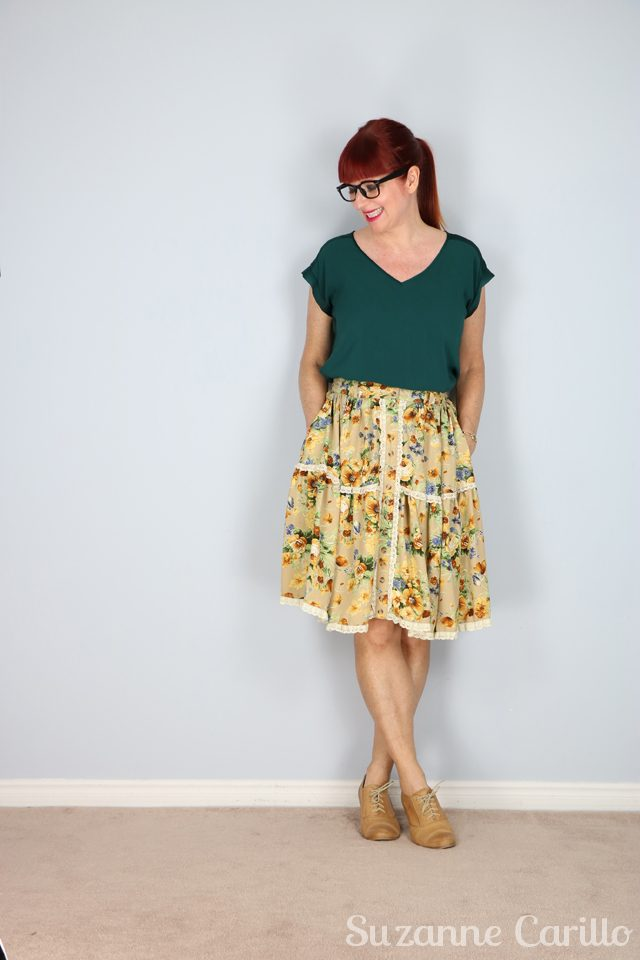 floral lace trim skirt for sale buy now online suzanne carillo on etsy