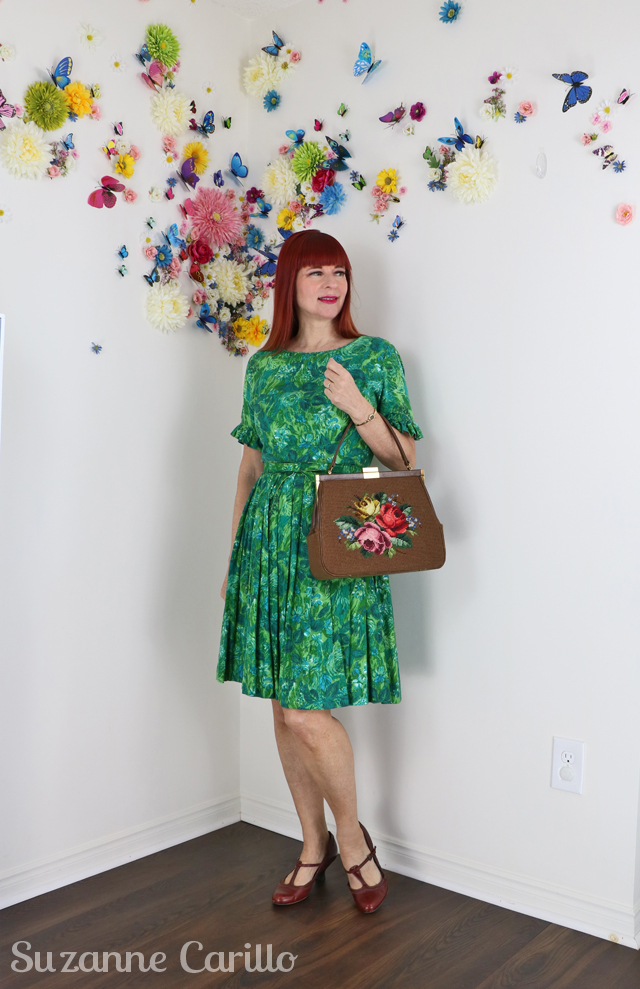 classic vintage fit and flare dress suzanne carillo style