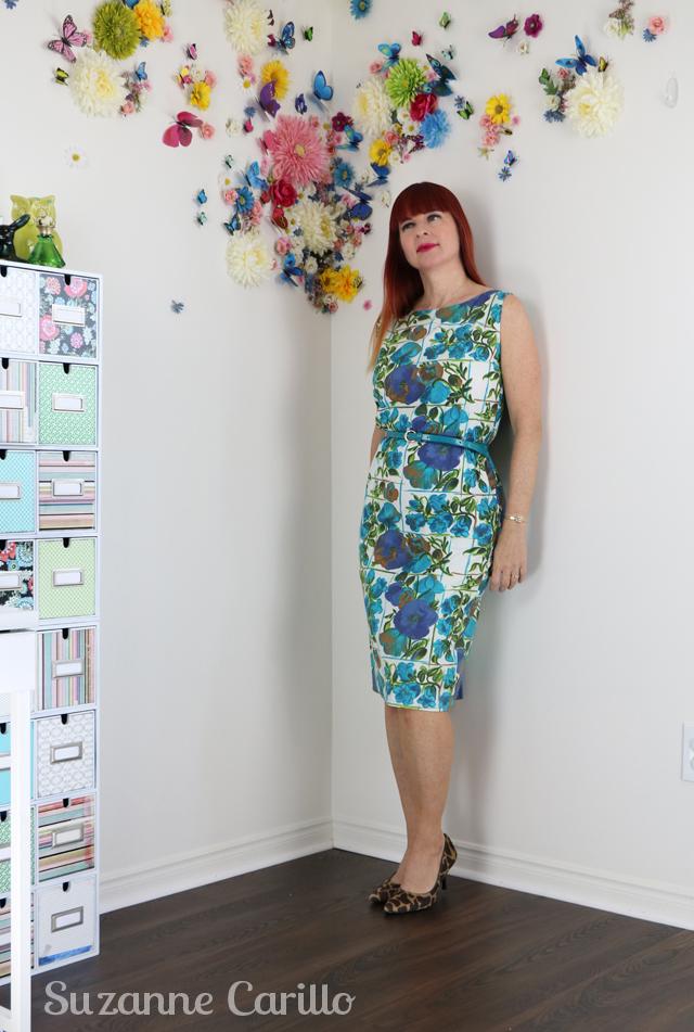 classic vintage wiggle dress suzanne carillo style
