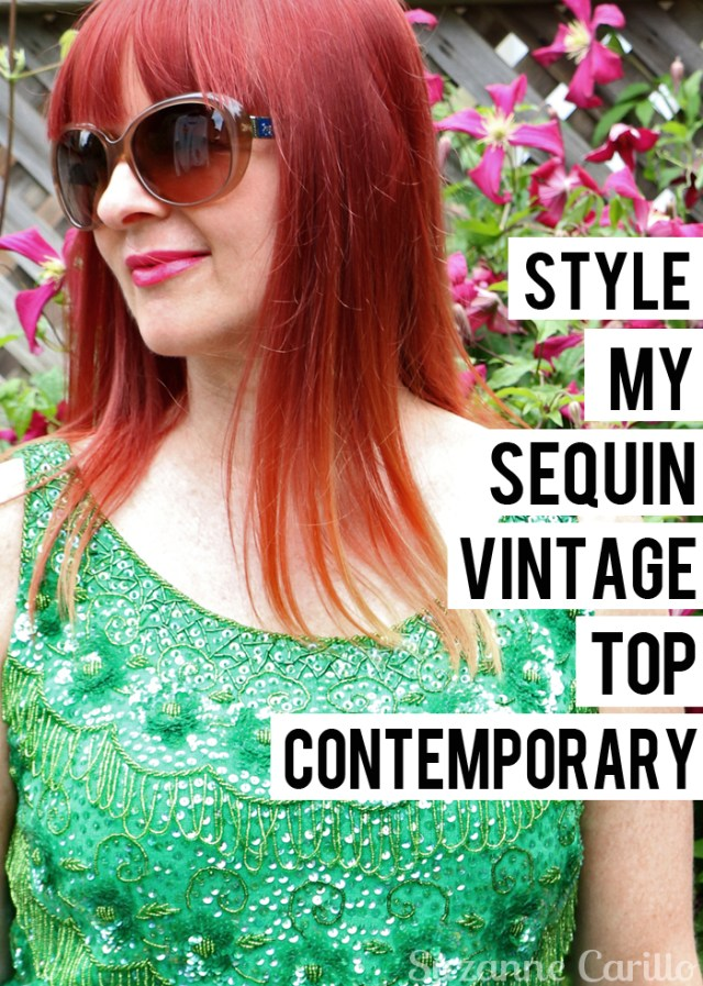 style my sequin vintage top contemporary suzanne carillo over 40 style