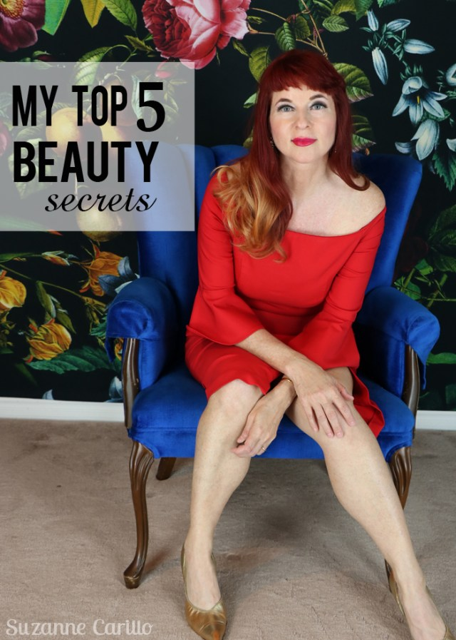 my top five beauty secrets over 50 suzanne carillo