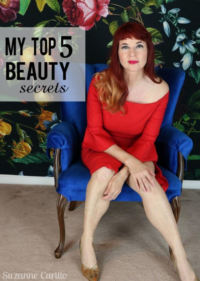 my top five beauty secrets over 50 suzanne carillo
