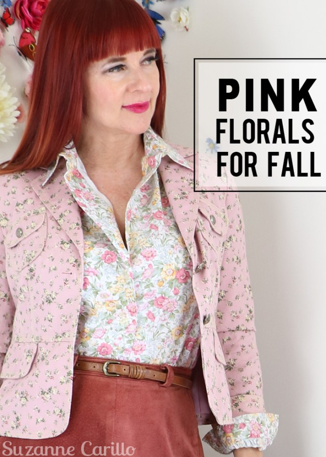 pink florals for fall suzanne carillo vintage style