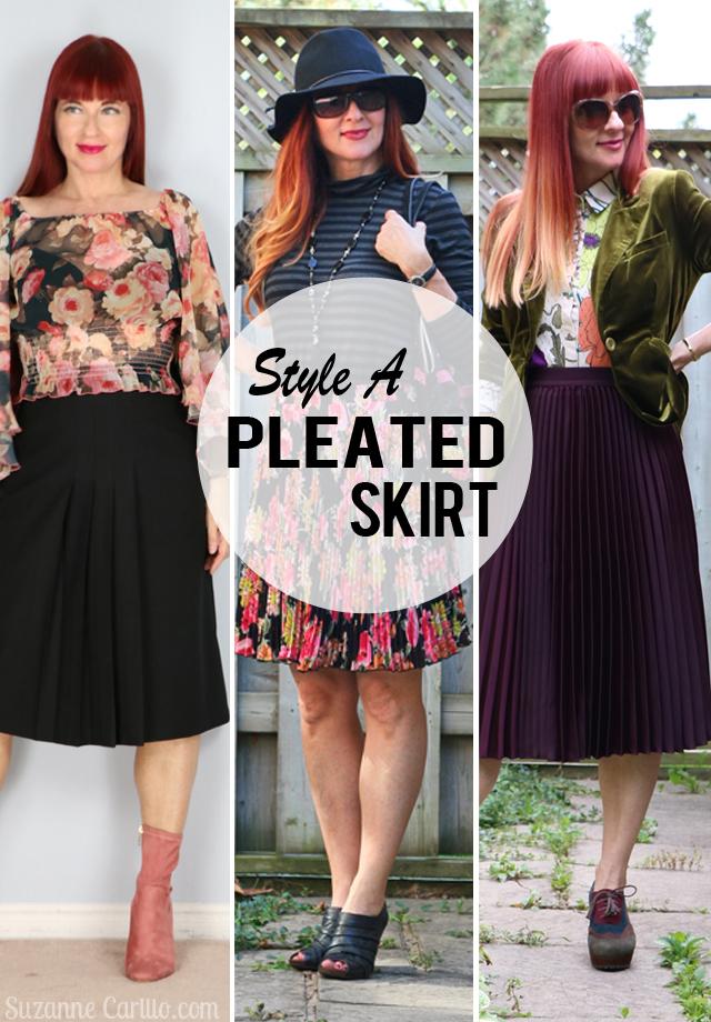 style a pleated skirt velvet blazer fall style