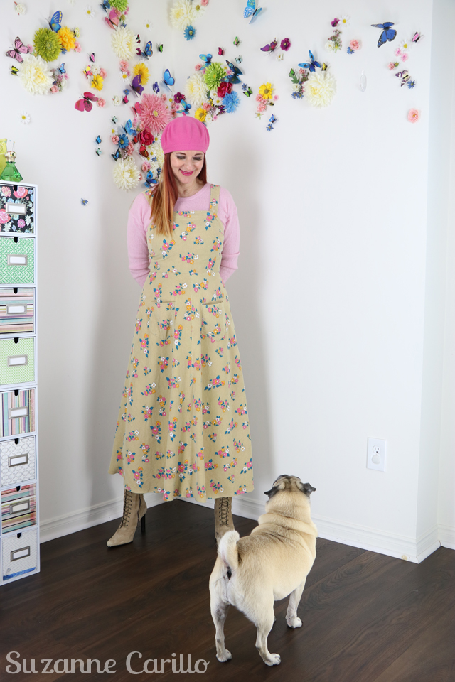 vintage 70s pinafore dress suzanne carillo style