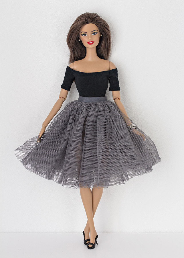 barbie style over 50 tulle skirt style