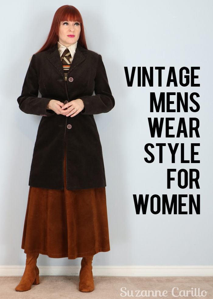 vintage menswear style for women suzanne carillo