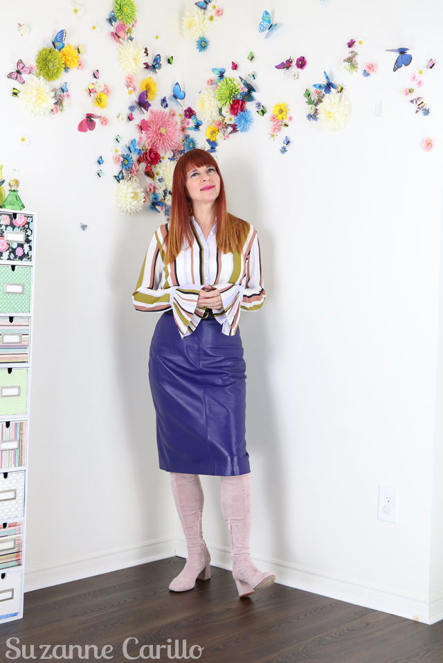 how to style a leather skirt over 50 suzanne carillo